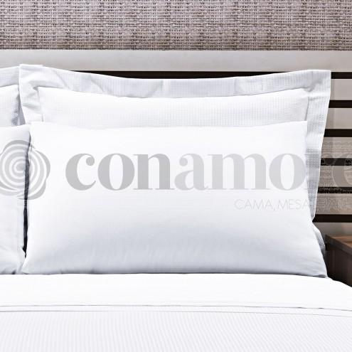 Fronha 200 fios misto branca - Classic Conamore Hotelaria