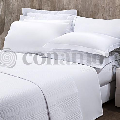 Lençol Solteiro BRANCO SEM ELÁSTICO, 180 Fios Confort - Hotelaria