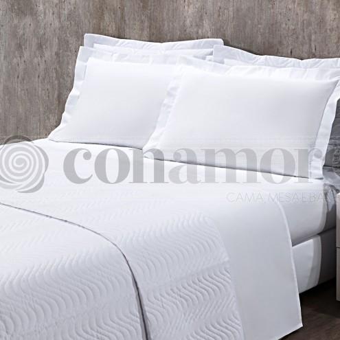 Lençol Queen BRANCO COM ELÁSTICO, 180 Fios Confort - Hotelaria