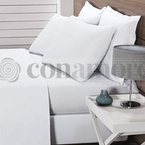 Lençol Solteiro com elástico para hotel - 200 fios - 100% algodão - Hotelaria