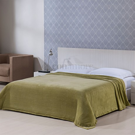Cobertor Microfibra Solteiro Verde - Conamore